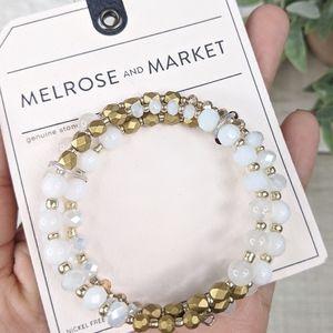MELROSE + MARKET Hand Bracelet Genuine Stone